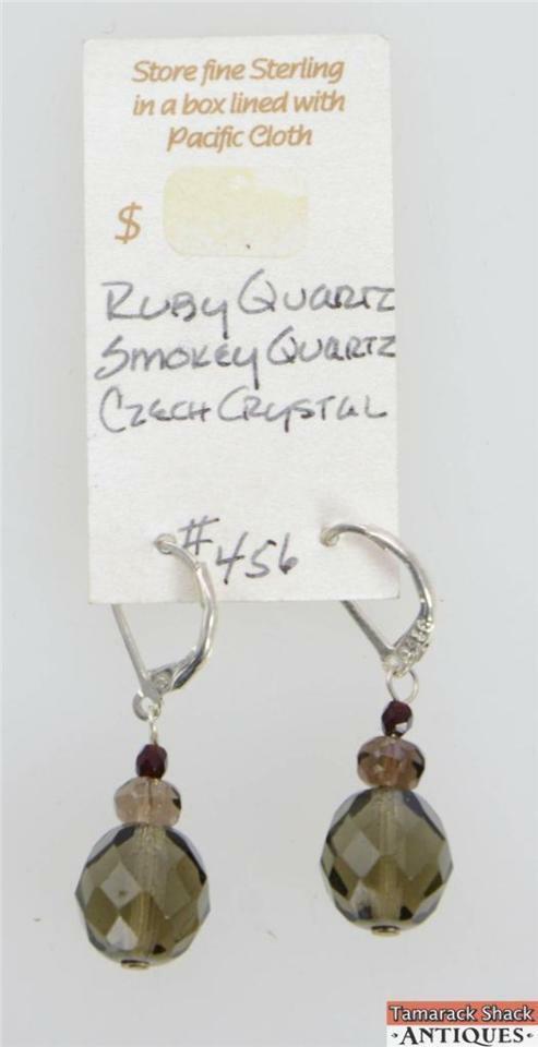 NOS-Ruby-Smokey-Quartz-Czech-Crystal-Necklace-Earring-Set-Pewter-Clasps-291031527530-3.jpg