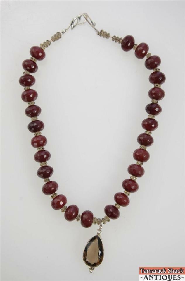 NOS-Ruby-Smokey-Quartz-Czech-Crystal-Necklace-Earring-Set-Pewter-Clasps-291031527530-4.jpg
