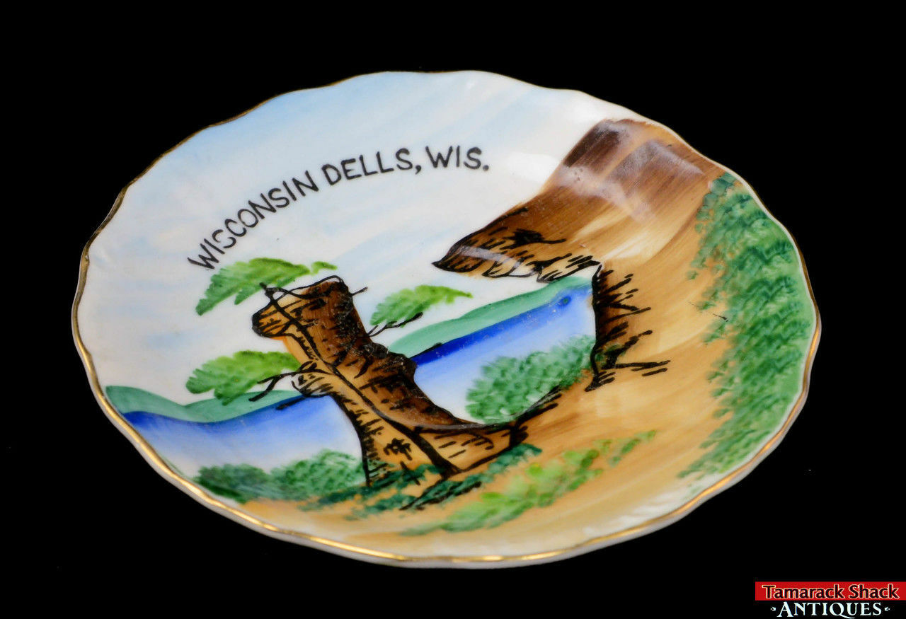 Pair-Souvenir-Wisconsin-Dells-Saucer-Pedestal-Plate-Landmark-Narrow-Chimney-Rock-291841826501-3.jpg