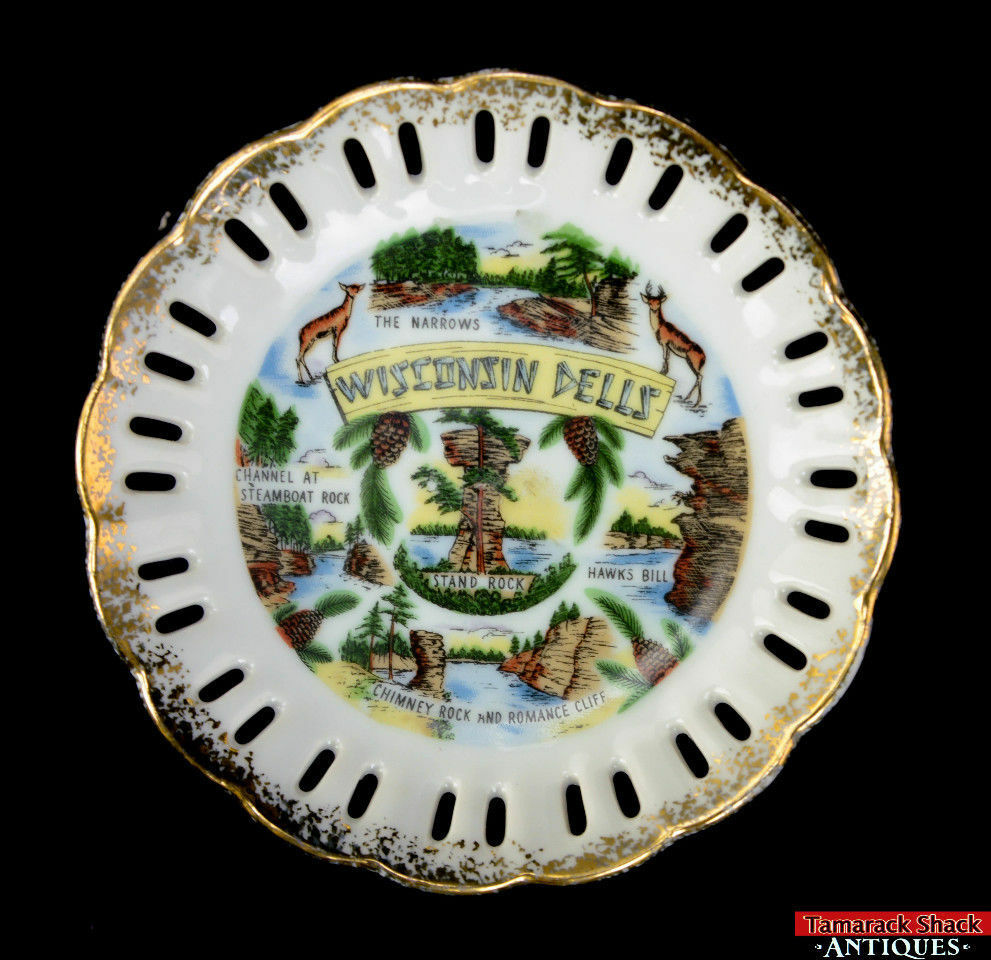 Pair-Souvenir-Wisconsin-Dells-Saucer-Pedestal-Plate-Landmark-Narrow-Chimney-Rock-291841826501-5.jpg