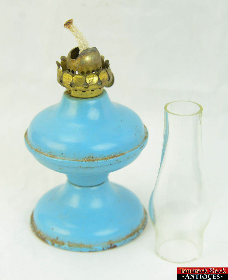 Vtg Acorn Pu0026A Co. Oil Lamp/ ...