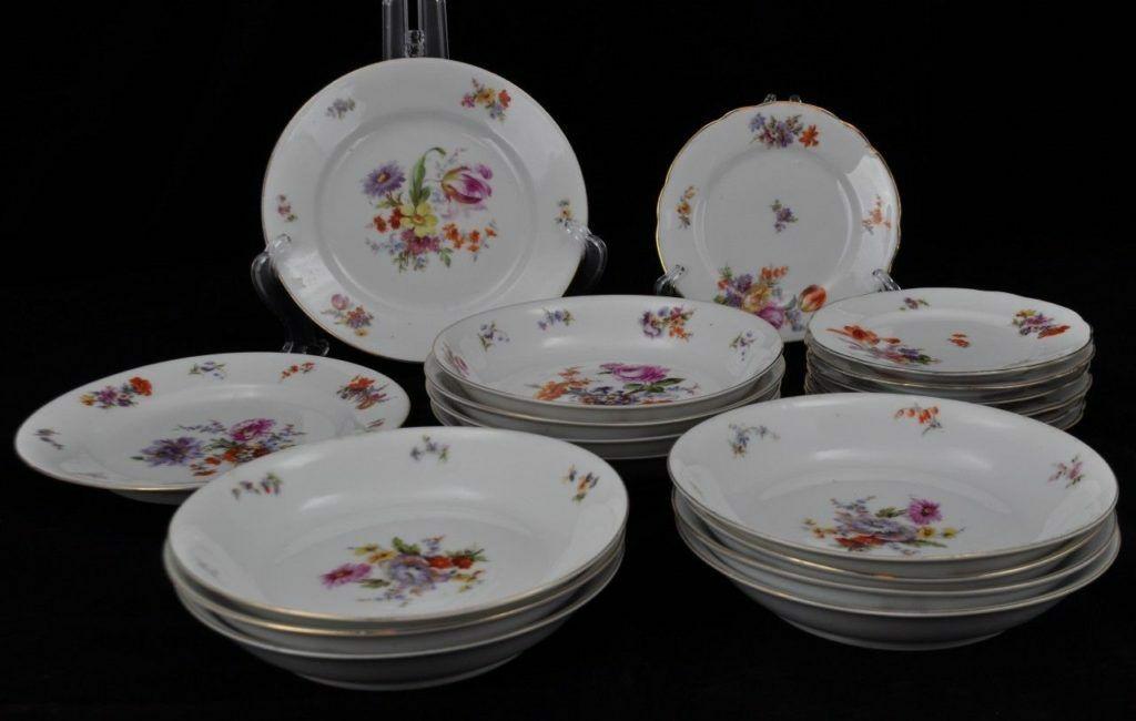 c1906-24 Schwarzburg German ... & c1906-24 Schwarzburg German Porcelain 20pc Dinner Set Floral Bouquet ...