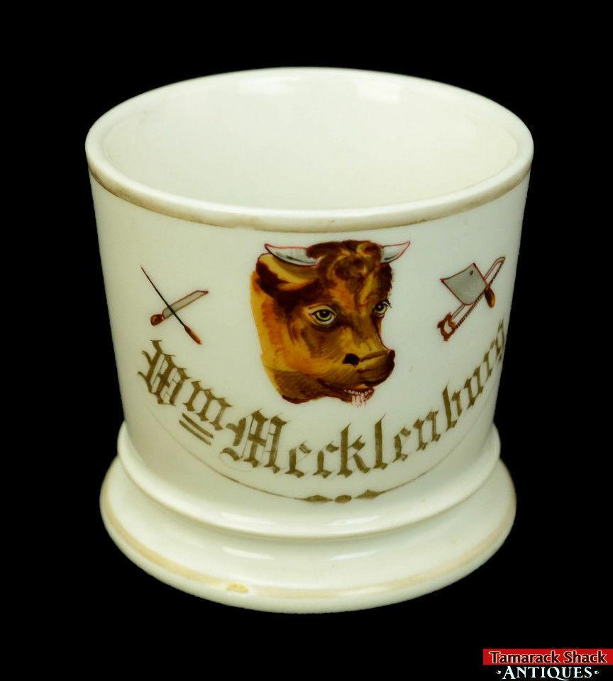 19thC-Antique-Porcelain-Occupational-Butcher-Shaving-Mug-w-Brush-Blades-L8Y-361680179992-3.jpg