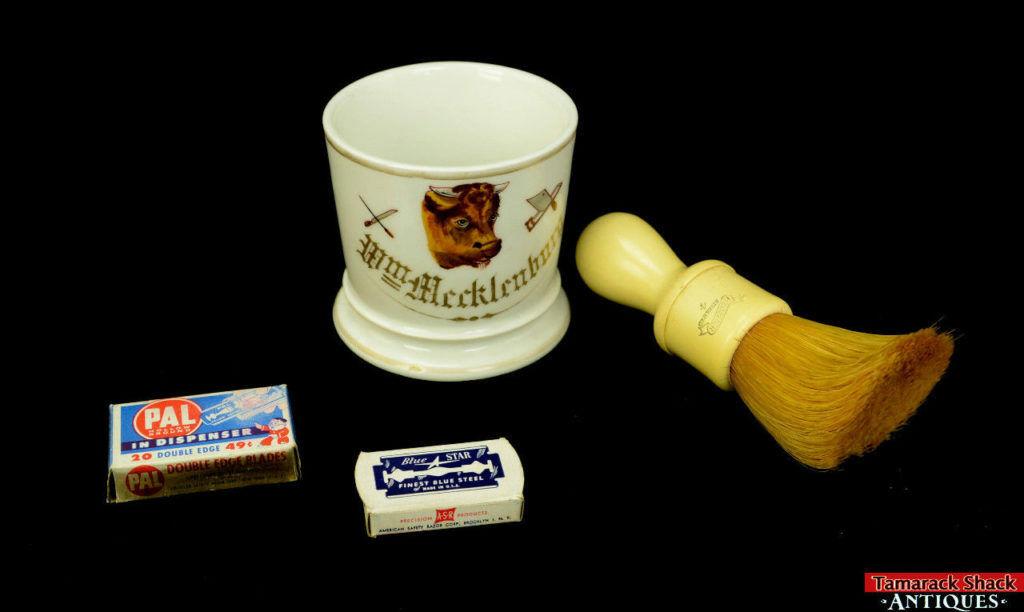 19thC-Antique-Porcelain-Occupational-Butcher-Shaving-Mug-w-Brush-Blades-L8Y-361680179992.jpg