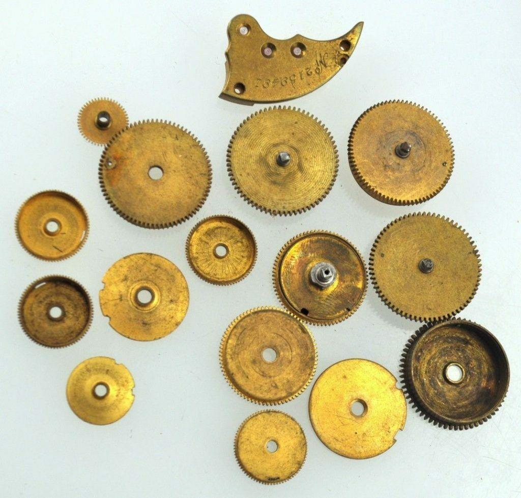 Antique Lot Of 12 Pocket Watch Gears Barrels Locket Silver Steampunk Altered Art Watches, Parts & Accessories Art Supplies