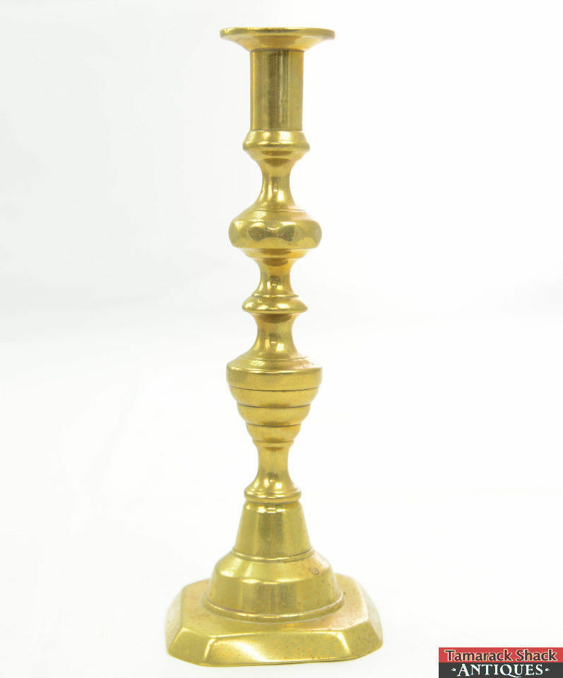 Antique-Brass-Diamond-Beehive-Single-Candlestick-Holder-Square-Base-9-78-Tall-291488013543.jpg