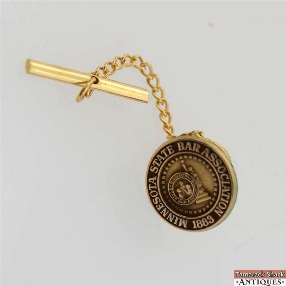 Men's Vintage Gold Toned Minnesota State Bar Association 1883 Tie Tack Pin