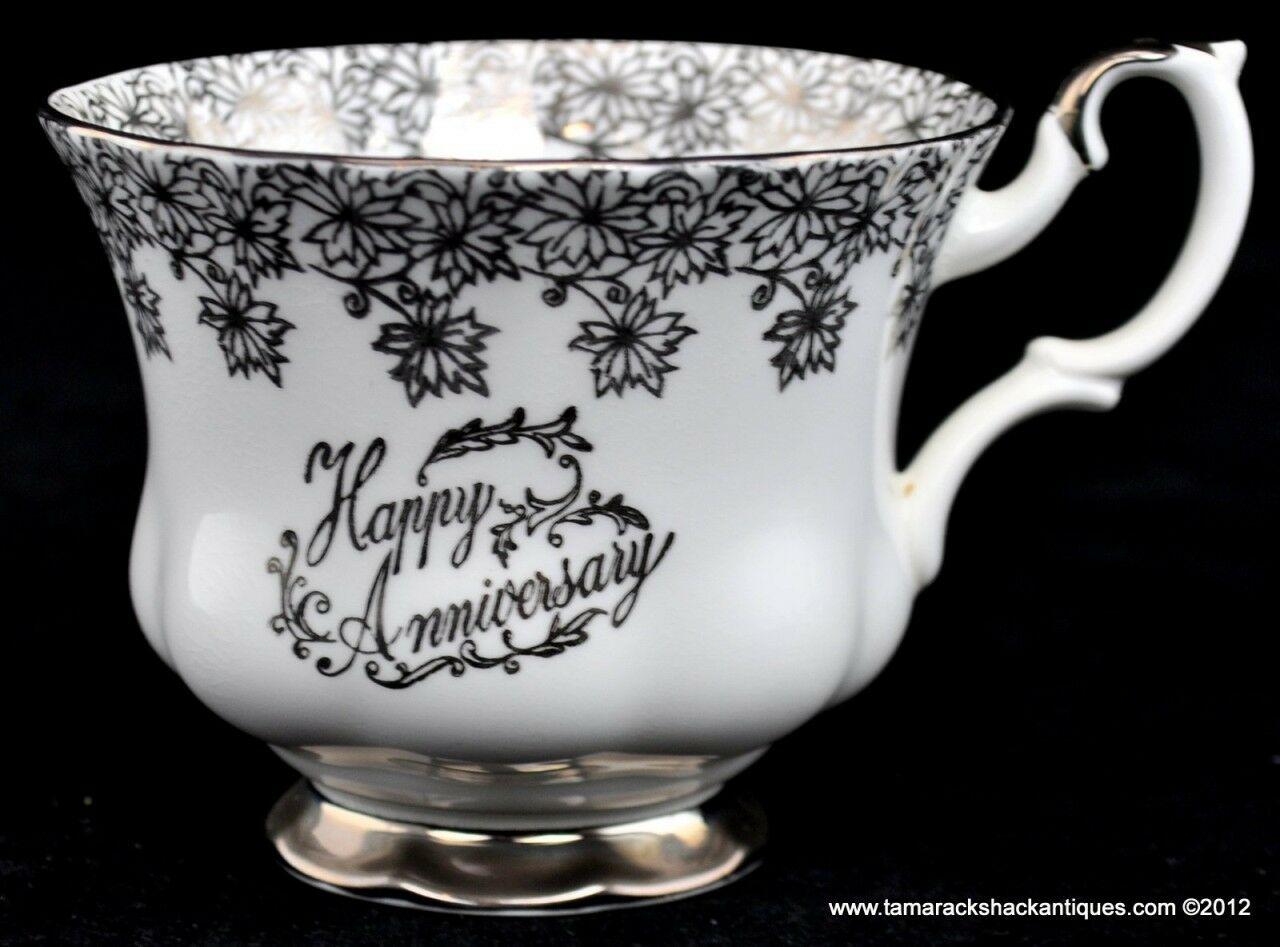 Royal Albert Bone China Happy Anniversary Cup Amp Saucer Set