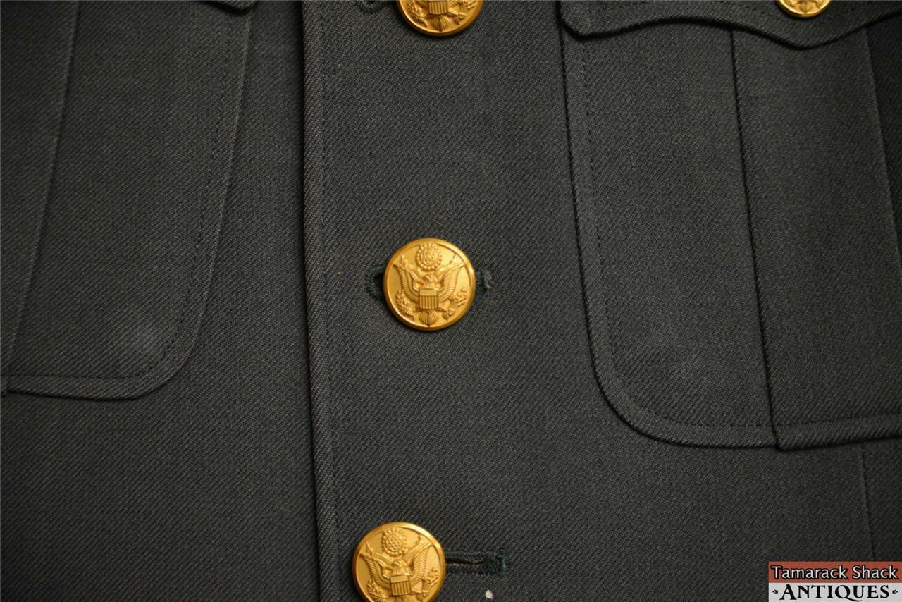 VTG Army Specialist Dress Uniform Jacket Green Enlisted Vietnam ...