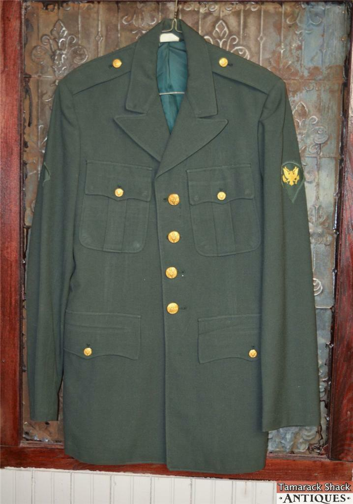 VTG Army Specialist Dress Uniform Jacket Green Enlisted ...