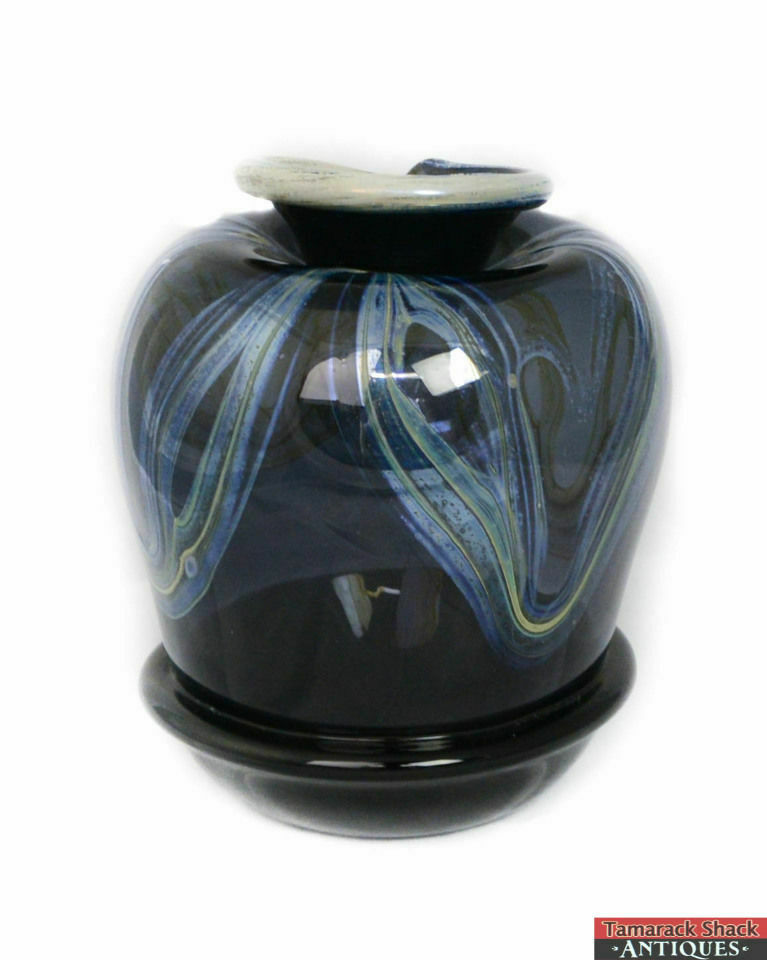 Signed-Alan-Honn-Minnesota-Hand-Blown-Navy-Blue-Iridescent-Swirl-Glass-Vase-L9X-291724589644-3.jpg