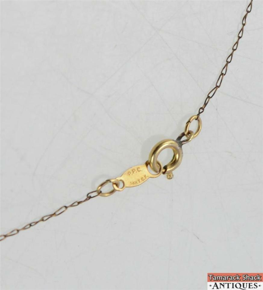 Vtg ppc 14k gold filled necklace 23 chain crystal pendant vtg ppc 14k gold filled necklace 23 chain crystal pendant springring clasp mozeypictures Image collections