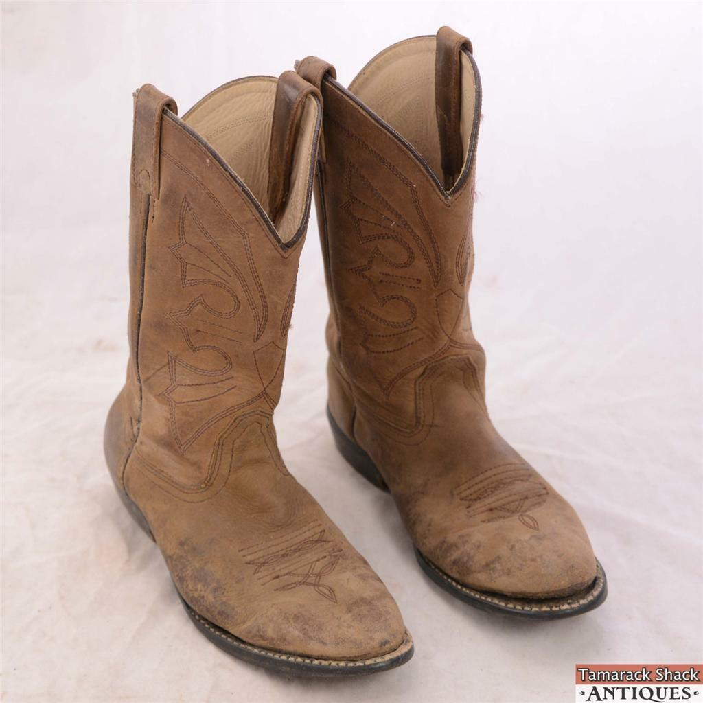 c9b2cb6cd9c Vintage Acme Size 5 D Style 13131 Cowboy Boots Light Brown Tan Made ...