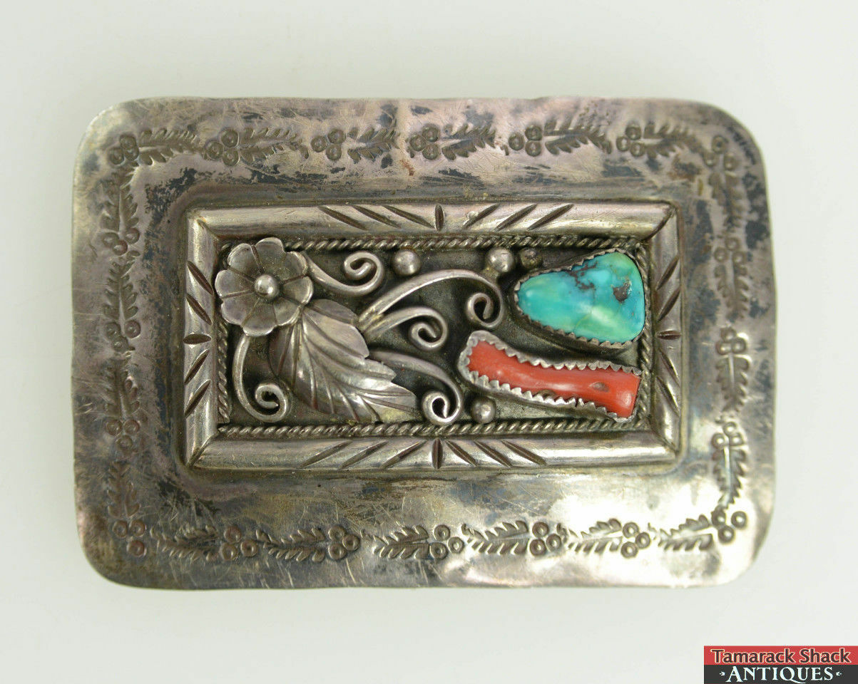 Native-America-Southwest-Silver-Belt-Buckle-Signed-MW-Turquoise-Coral-Floral-L6X-361502272595-2.jpg