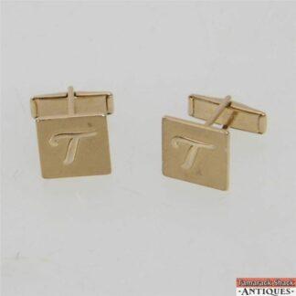Vintage pair of monogrammed cuff links