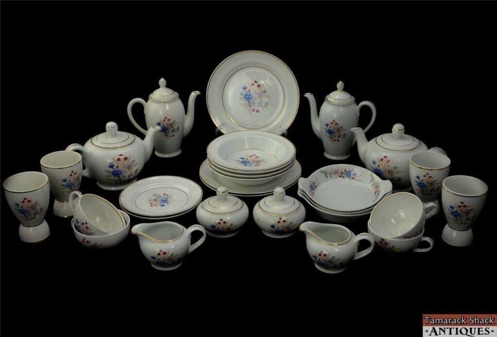 Set 28pc Tea Coffee Pots Cups Arabia