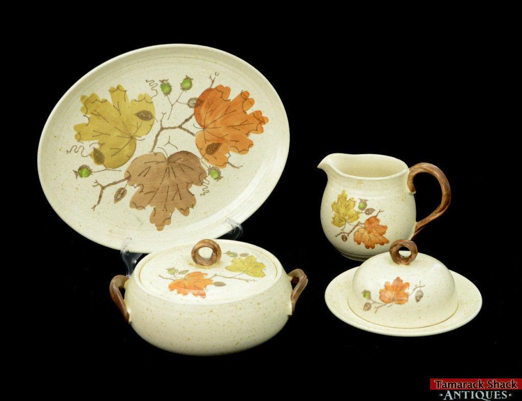 VTG-6-pc-Metlox-Poppytrail-Woodland-Gold-Pitcher-Vegetable-Bowl-Serving-Platter-291536637106.jpg