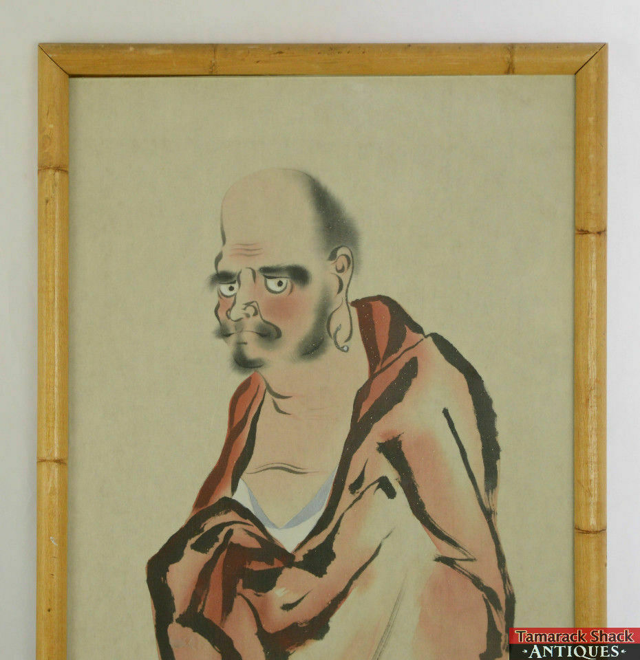 31-Framed-Chinese-Handpainted-Silk-Picture-Man-Wrapped-Red-Sheet-Seal-Stamp-L4X-291705446047-2.jpg