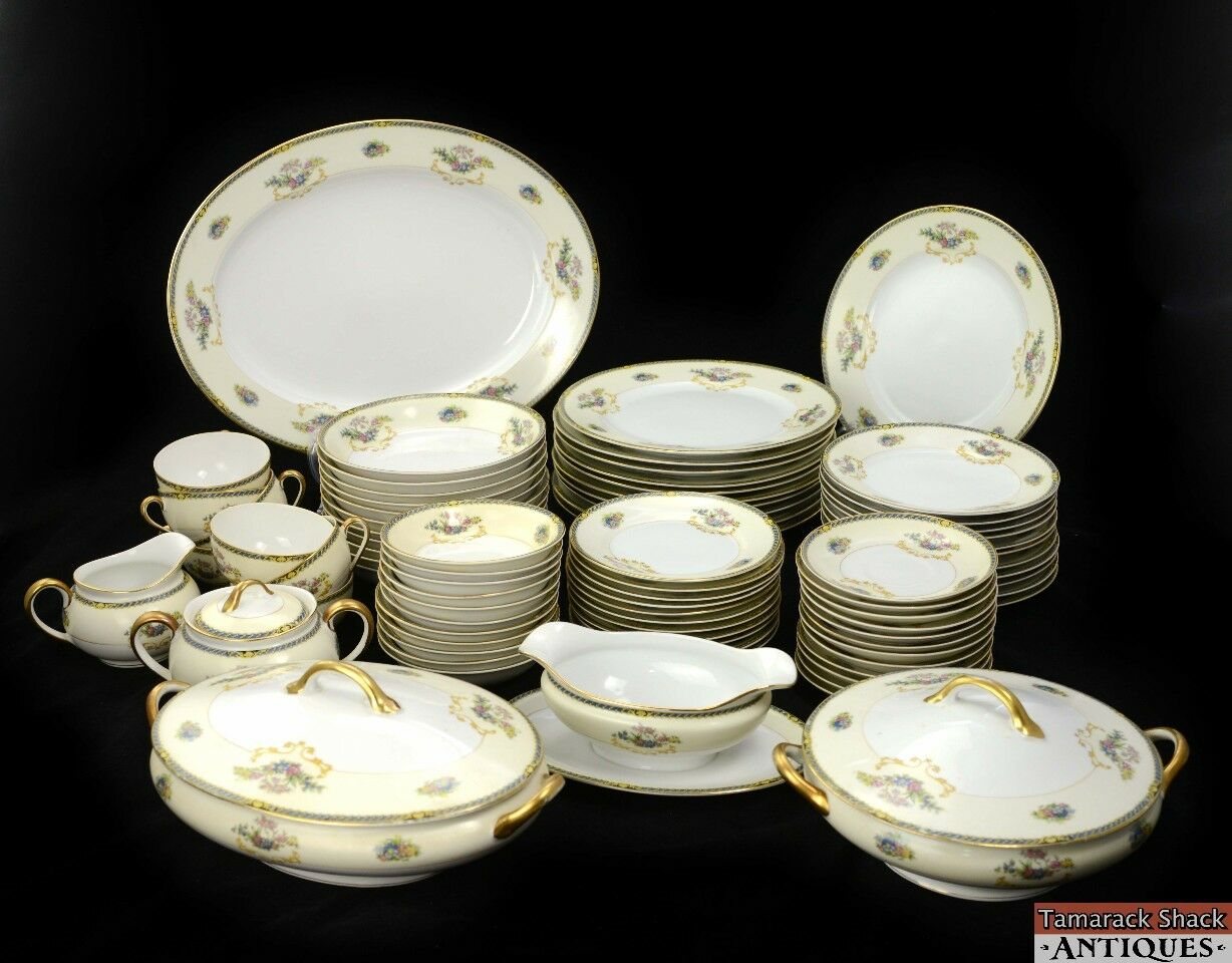 83pc Noritake Romance Set Dinner ... & 83pc Noritake Romance Set Dinner Plates Platter Covered Dish Gravy Boat Japan