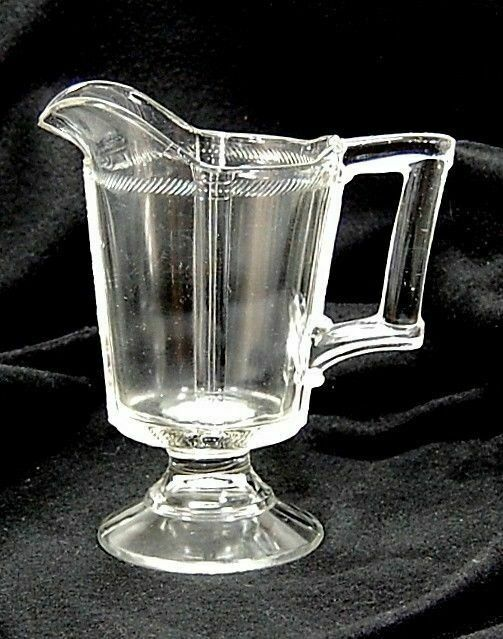 Antique Cord Band U0026 Panels Creamer 1880s EAPG Small Clear Glass Pitcher ...