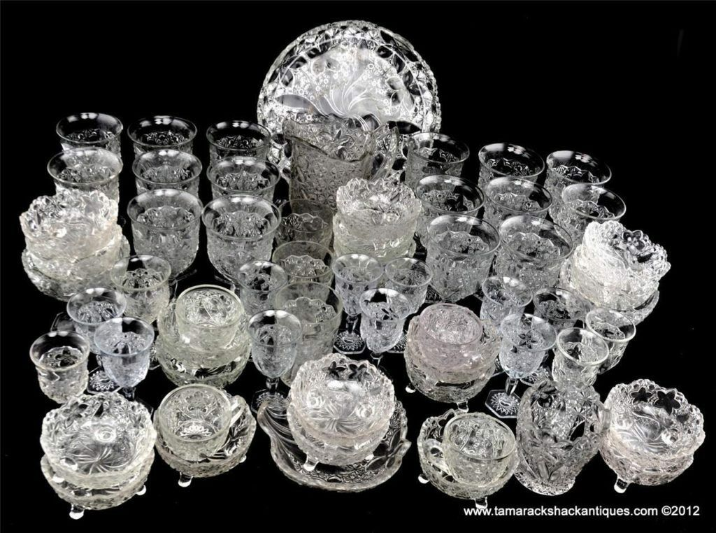 Lot-of-63pcs-EAPG-1910-Indiana-Glass-Co-Clear-Daisy-Button-with-Narcissus-VTG-360543350939.jpg