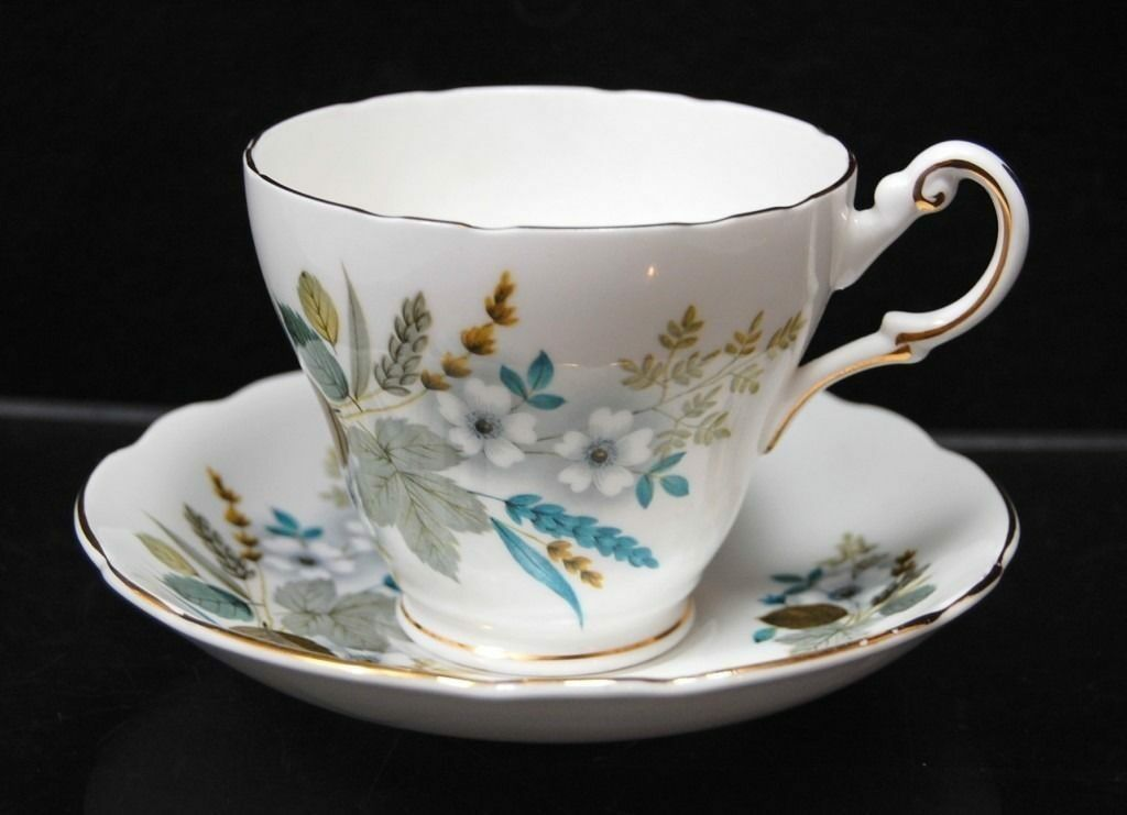 regency english bone china harvest bouquet cup saucer tamarack shack antiques. Black Bedroom Furniture Sets. Home Design Ideas