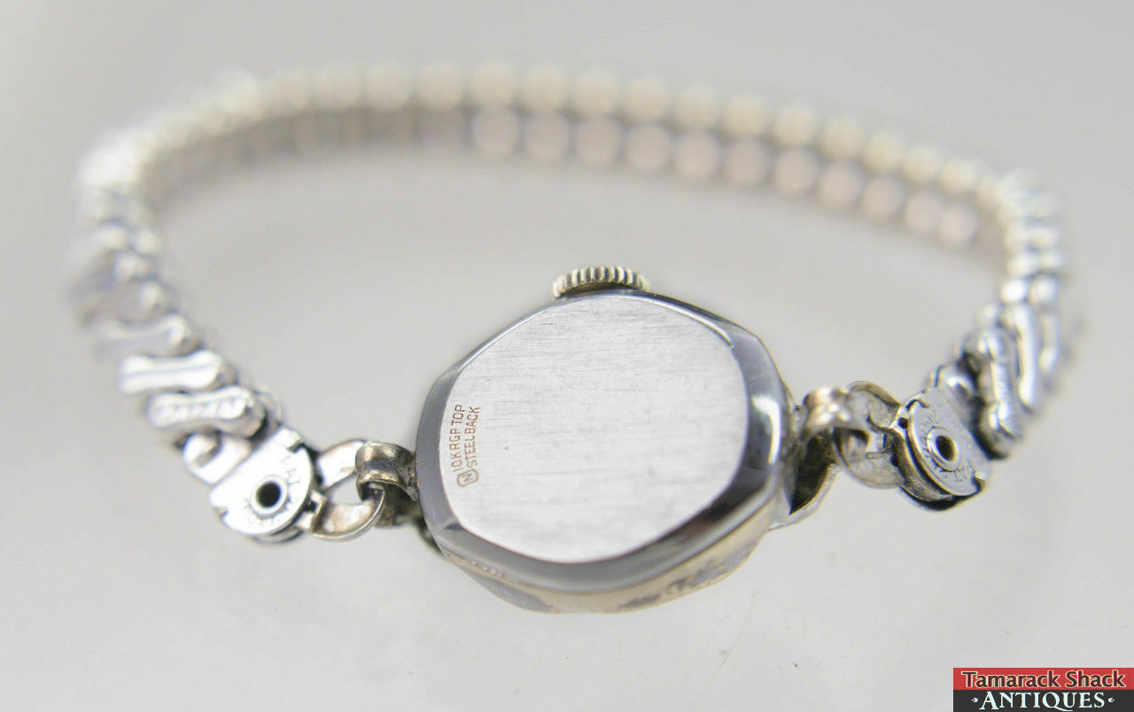 Watch wrist parts - Vintage Swiss Hampden Ladies 17j Wrist Watch Champion Band For Parts Or Repair